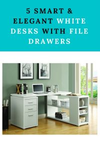 Brighten up your room with a white desk with file storage space. This popular selection will help you choose between sleek, modern, and elegant options. Desk With File Drawer, White Desks, Office Desk, Drawers, Furniture, Home Decor, Desk Office, Decoration Home, Desk