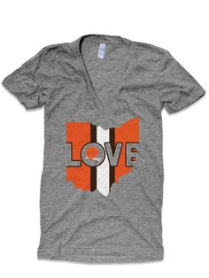 Sunday Funday Uniform Image of Love Ohio - Browns Town (Deep V-Neck)