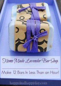 EASY Lavender Home Made Soap Making | Great Gift Idea!        happydealhappyday.com