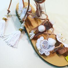 Handmade wedding sandals by Bliss Follow us in Facebook