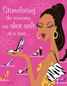 Stimulating The Economy, One Shoe Sale At A Time. ~Alece Birnbach  ❦~HeadOverHeels~❦