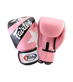 Fairtex NATION PRINTS UNIVERSAL MUAY THAI/BOXING GLOVES – PINK Ergonomically engineered with a unique contoured and tight-fit hand compartment designed to provide a secure and snug fit. Constructed of premium quality leather with the Fairtex signature three-layered foam system for excellent hand and knuckle protection and shock dispersement.