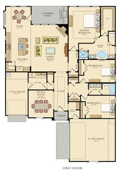The Aspen is a one story home perfect for empty nesters and first-time home buyers with 2,169 sq. ft., 3 bedrooms and 2 bathrooms.