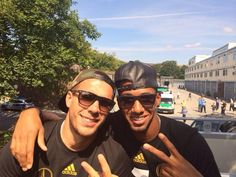 podolski and boateng Berlin on July 15, 2014, -