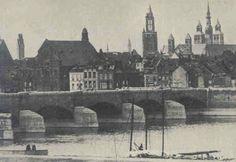 1950 Wilhelminabrug  Maastricht Oude Prenten
