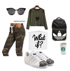 """""""What if?"""" by lana-653 ❤ liked on Polyvore featuring WithChic, adidas Originals, adidas and bags"""