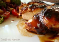 The sauce for this Balsamic Barbecue Chicken recipe is sweet and tangy, made from scratch in minutes. Basted on the grill or in the oven, the flavors are bold, the chicken is incredibly tender. Turkey Recipes, Chicken Recipes, Chicken Meals, Great Recipes, Favorite Recipes, Yummy Recipes, Cooking Recipes, Healthy Recipes, Soups