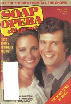 ALL MY CHILDREN: Erica and Tom (Susan Lucci and Richard Shoberg).