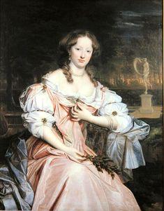 Madame de Pompadour — Portrait of Grace Wilbraham by John Michael Wright. 17th Century Clothing, 17th Century Fashion, 17th Century Art, Luis Xiv, Old Portraits, Historical Art, Baroque Fashion, Oil Painting Reproductions, Art Uk