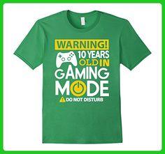 Mens 10th Birthday Gift Shirt 10 Years Old in Gaming Mode Gamer 2XL Grass - Gamer shirts (*Amazon Partner-Link)