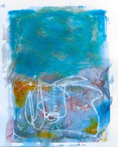 """""""I'm Blue"""", Encaustic on Paper, x Abstract Paintings, Contemporary Paintings, Im Blue, Fine Art, Paper, Artist, Artists, Abstract Drawings, Visual Arts"""
