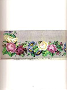 Prelepa srara šema za vez sa motivom cveća.