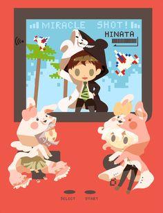 Nagito Komaeda, Hajime Hinata y Chiaki Nanami