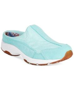 Easy Spirit Traveltime Sneakers fabric/suede clearwater blue .75h sz7.5 59.99 Sale thru 8/3 15%off (50.99)