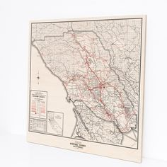 Wood Print Map Sonoma County California in by DesignOutfitters