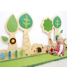 Forest Sensory Wall Set 1 – von Early Years Resources UK Source by Blueberry Flowers, Church Nursery Decor, Sensory Wall, Sensory Boards, Preschool Lesson Plans, Soft Play, Playroom Design, Play Centre, Baby Art