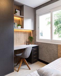 Wardrobe Design Bedroom, Room Design Bedroom, Modern Bedroom Design, Home Room Design, Home Interior Design, Interior Designing, Study Table Designs, Study Room Design, Study Room Decor