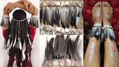DIY Accessories from feathers & shells | Headband | Anklets | Bohemian S...