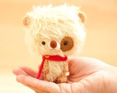 Mikun - miniature teddy bear - made to order - from Knitting dreams by DaWanda.com