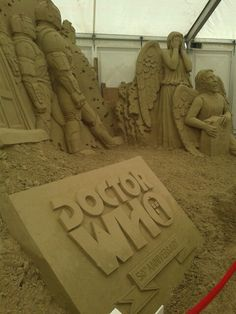Epic Dr. Who Themed Sand Sculpture