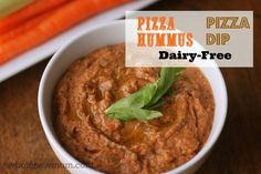 This Pizza Dip (or Pizza Hummus) is Dairy-Free and Sesame-Free too. And super yummy. A great treat for those on a special diet (and even for those who aren't!)