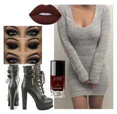 """Без названия #16"" by emilia-kaysina on Polyvore featuring мода, Luichiny, Lime Crime и Chanel"