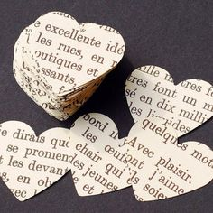 simple paper text hearts
