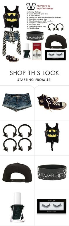 """""""Day 2"""" by xxkrysxx ❤ liked on Polyvore featuring Billabong, Converse, Roark, Essie, Inglot, BVB, andyismybatman and bvb10daychallenge"""