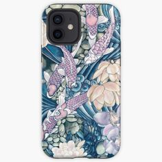 """""""Koi Water Garden """" iPhone Case & Cover by PolkaDotStudio 