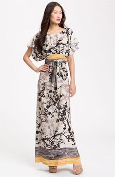 I need. O.k I just want to the point of NEED. Why can't I find it in my size???Suzi Chin for Maggy Boutique Crêpe de Chine Maxi Dress