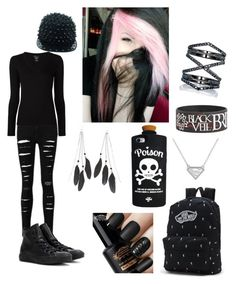 """""""Emo's School Day"""" by alternativehuman on Polyvore featuring Majestic Filatures, Converse, Valfré, Vans, Charlotte Russe and Eva Fehren"""