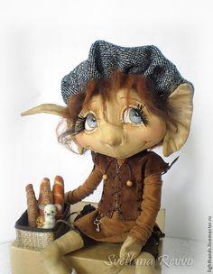 Купить Любители выпечки Эйвери и Пик. Коллекционная кукла - кукла ручной работы, кукла текстильная