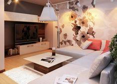 Simple  Ideen zum Wohnzimmer einrichten in neutralen Farben
