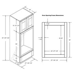 Superb Wall Oven Cabinet Dimensions Ana White Wall Kitchen Cabinet Basic Carc Plan Diy S Kitchen Wall Cabinets, Kitchen Stove, Diy Cabinets, Kitchen Cabinet Design, Kitchen Reno, White Cabinets, Oven Cabinet, Cabinet Plans, Schmuck