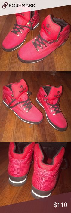 Red Hot Timberlands!!! Brand spanking NEW Cherry RED men's Timberland Euro Hiker boots. Sz 12 Timberland Shoes