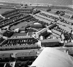 Luchtfoto wederopbouw Ouwe Helder, 12 juni 1969.