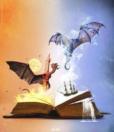 Make good night dragons memes or upload your own images to make custom memes Fantasy Magic, Fantasy World, Fantasy Art, Mythological Creatures, Mythical Creatures, Breathing Fire, Book Tattoo, Dragon Art, Dragon Book