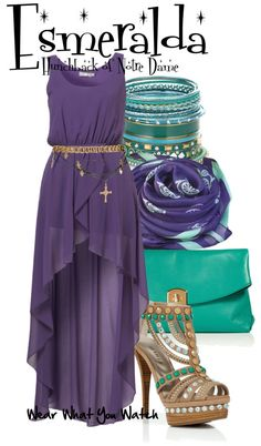 Inspired by Disney& Esmeralda (voiced by Demi Moore) from The Hunchback of Notre Dame. Disney Dresses, Disney Outfits, Disney Clothes, Moda Disney, Disneybound Outfits, Disney Inspired Fashion, Disney Fashion, Character Inspired Outfits, Vetement Fashion