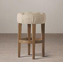 Bennett Round Upholstered Counter Stool