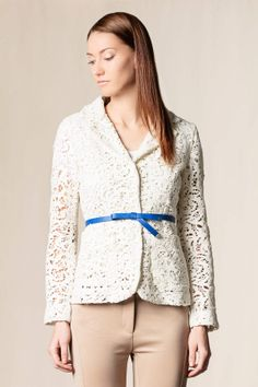#Giacca pizzo macrame' bianco                  #scervinostreet #dressingfab #shoponline #dress #perfectdress