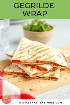 Lunch Wraps, Taco Wraps, Healthy Wraps, Vegetarian Recipes, Healthy Recipes, Tasty, Yummy Food, Wrap Recipes, Snacks