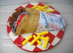 gyros souvlaki cake