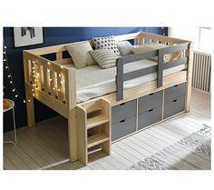 Toddler Loft Beds, Loft Beds For Teens, Kids Beds For Boys, Toddler Rooms, Kid Beds, Modern Kids Bedroom, Kids Bedroom Designs, Bedroom Bed Design, Kids Room Design