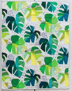 Patchwork pillow modern paper piecing 24 new Ideas Tropical Quilts, Hawaiian Quilts, Paper Piecing Patterns, Paper Piecing Quilting, Patchwork Pillow, Quilt Festival, Foundation Paper Piecing, English Paper Piecing, Quilting Designs