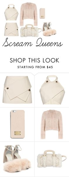 """""""Scream Queens Inspired Outfit #3"""" by marialiapi on Polyvore featuring J.W. Anderson, MICHAEL Michael Kors, RED Valentino, Alexander Wang, Fendi, Pink and ScreamQueens"""