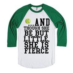 American made Softball Little but Fierce t-shirt tee