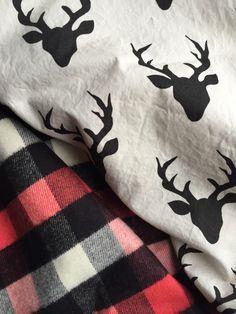 Stag Blanket, winter baby blanket, rustic nursery, nursery ideas, flannel, baby boy room, baby gift, https://www.etsy.com/listing/482641354/deer-baby-blanket-baby-boy-flannel