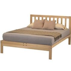 "The Charleston 2 Platform Bed is made from real tulip poplar harvested in Virginia and manufactured in Athens, GA. This sturdy bed comes unfinished and chemical free and features slat spacing of 4.5"". If you need a slat spacing of under 3"" to accommodate your memory foam or latex mattress requirements, pick the Charleston Plus Platform Bed. Take comfort in purchasing this bed that's made in America from a company with an outstanding reputation for quality products and excellent ..."