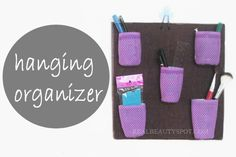 recycle old plastic containers to a hanging organizer