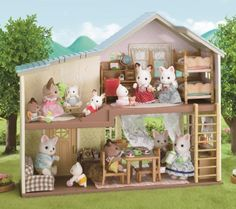 Sylvanian Families Tomy Evergreen Grey Bears Elder Sister Fashion, Character, Play Dolls Distinctive For Its Traditional Properties Dolls & Bears